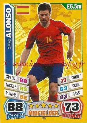 Topps Match Attax England 2014 - N° 210 - Xabi ALONSO (Espagne)