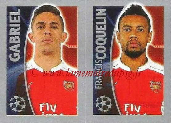 2015-16 - Topps UEFA Champions League Stickers - N° 405 - GABRIEL + Francis COQUELIN (Arsenal FC)