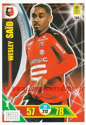 2017-18 - Panini Adrenalyn XL Ligue 1 - N° 288 - Wesley SAID (Rennes)