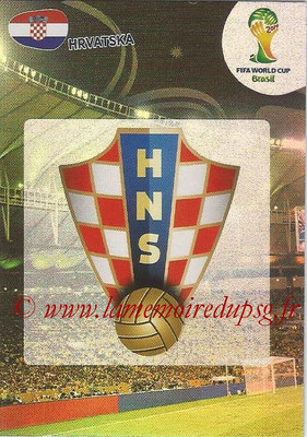 2014 - Panini FIFA World Cup Brazil Adrenalyn XL - N° 193 - Logo Croatie