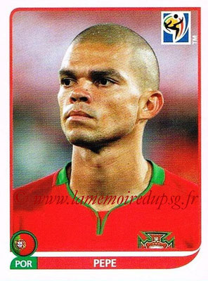 2010 - Panini FIFA World Cup South Africa Stickers - N° 548 - PEPE (Portugal)