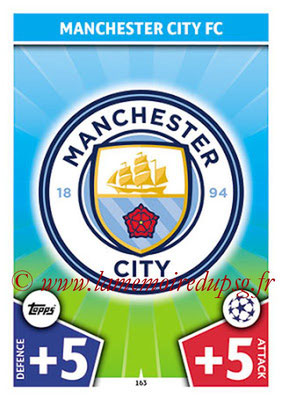 2017-18 - Topps UEFA Champions League Match Attax - N° 163 - Logo Manchester City FC (Club Badge)