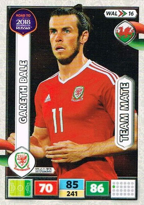 2018 - Panini Road to FIFA World Cup Russia Adrenalyn XL - N° WAL16 - Gareth BALE (Pays de Galles)