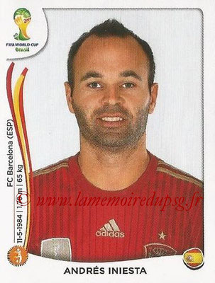 2014 - Panini FIFA World Cup Brazil Stickers - N° 119 - Andres INIESTA (Espagne)