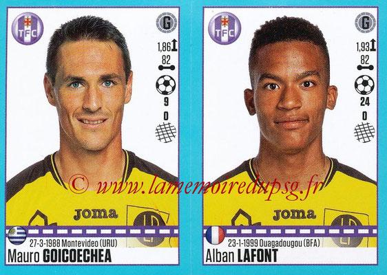 2016-17 - Panini Ligue 1 Stickers - N° 818 + 819 - Mauro GOICOECHEA + Alban LAFONT (Toulouse)