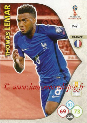 2018 - Panini FIFA World Cup Russia Adrenalyn XL - N° 147 - Thomas LEMAR (France)