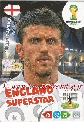 2014 - Panini FIFA World Cup Brazil Adrenalyn XL - N° 136 - Michael CARRICK (Angleterre)