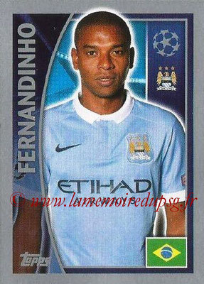 2015-16 - Topps UEFA Champions League Stickers - N° 258 - FERNANDINHO (Manchester City FC)