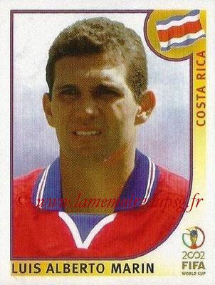 2002 - Panini FIFA World Cup Stickers - N° 228 - Luis Alberto MARIN (Costa Rica)