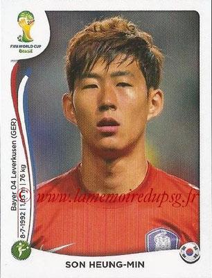 2014 - Panini FIFA World Cup Brazil Stickers  - N° 635 - Son HEUNG-MIN (Corée du Sud)