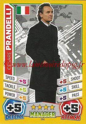 Topps Match Attax England 2014 - N° 292 - Cesare PRANDELLI (Entraîneur Italie)
