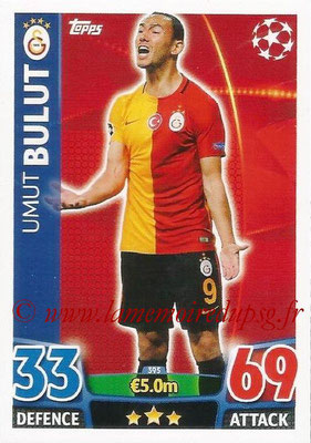 2015-16 - Topps UEFA Champions League Match Attax - N° 395 - Umut BULUT (Galatasaray AS)