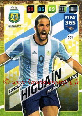 2017-18 - Panini FIFA 365 Cards - N° 351 - Gonzalo HIGUAIN (Argentine) (International Star)