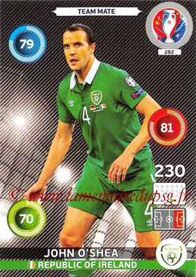 Panini Euro 2016 Cards - N° 282 - John O'SHEA (République d Irlande)