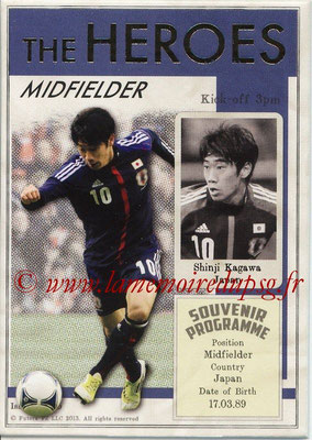 2013 - Futera World Football Unique - N° HER15 - Shinji KAGAWA (Japon) (Midfielder) (The Heroes)