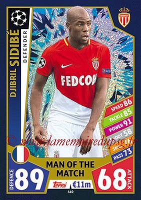 2017-18 - Topps UEFA Champions League Match Attax - N° 410 - Djibril SIDIBE (AS Monaco) (Man Of the Match)