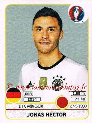 Panini Euro 2016 Stickers - N° 246 - Jonas HECTOR (Allemagne)
