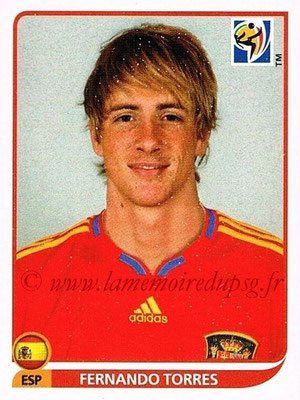 2010 - Panini FIFA World Cup South Africa Stickers - N° 580 - Fernando TORRES (Espagne)