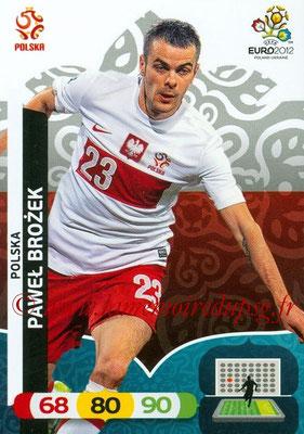 Panini Euro 2012 Cards Adrenalyn XL - N° 161 - Pawel BROZEK (Pologne)