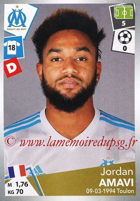 2017-18 - Panini Ligue 1 Stickers - N° 211 - Jordan AMAVI (Marseille)