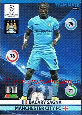 2014-15 - Adrenalyn XL champions League Update edition N° UE053 - Bacary SAGNA (Manchester City)