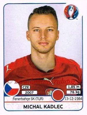 Panini Euro 2016 Stickers - N° 390 - Michal KADLEC (République Tchèque)
