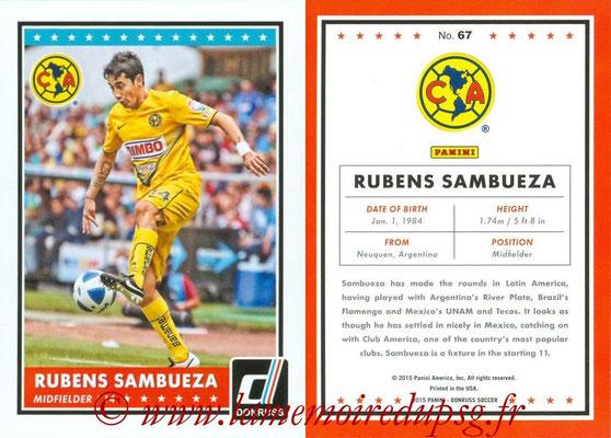 2015 - Panini Donruss Soccer - N° 067 - Rubens SAMBUEZA (Club America)