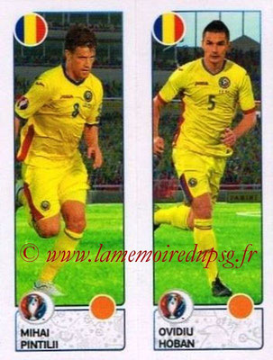 Panini Euro 2016 Stickers - N° 046 - Mihai PINTILII + Ovidiu HOBAN (Roumanie)