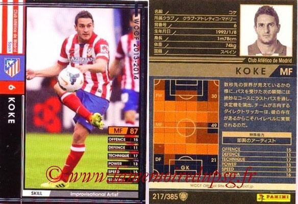 2013-14 - WCCF - N° 217 - KOKE (Atletico Madrid)