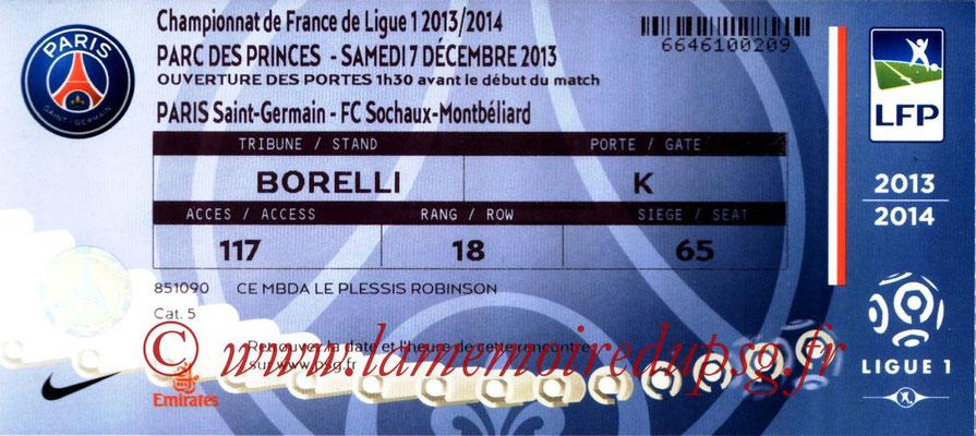 Tickets  PSG-Sochaux  2013-14