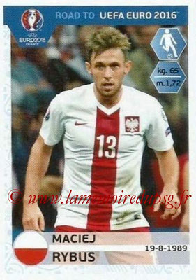Panini Road to Euro 2016 Stickers - N° 219 - Maciej RYBUS (Pologne)