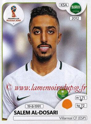 2018 - Panini FIFA World Cup Russia Stickers - N° 067 - Salem AL-DOSARI (Arabie Saoudite)