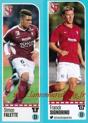 2016-17 - Panini Ligue 1 Stickers - N° 432 + 433 - Simon FALETTE + Franck SIGNORINO (Metz)