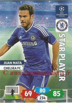 2013-14 - Adrenalyn XL champions League N° 125 - Juan MATA (Chelsea FC) (Star Player)