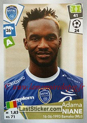 2017-18 - Panini Ligue 1 Stickers - N° 513 - Adama NIANE (Toulouse)