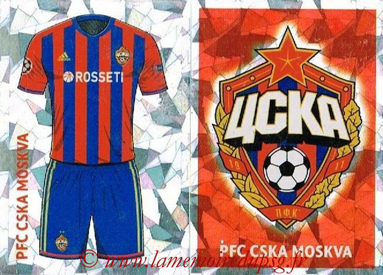 2016-17 - Topps UEFA Champions League Stickers - N° CSK 1-2 - Logo + Maillot Domicile (CSKA Moscou)