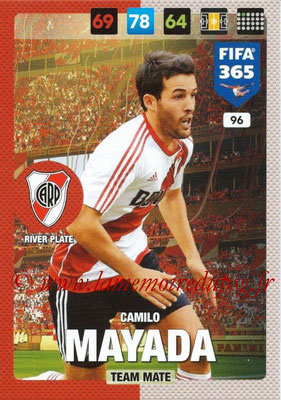 2016-17 - Panini Adrenalyn XL FIFA 365 - N° 096 - Camilo MAYADA (CA River Plate)