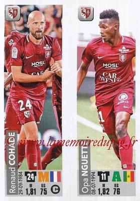 2018-19 - Panini Ligue 1 Stickers - N° 542 - Renaud COHADE + Opa NGUETTE (FC Metz)