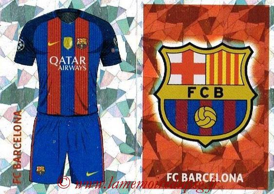 2016-17 - Topps UEFA Champions League Stickers - N° FCB 1-2 - Logo + Maillot Domicile (FC Barcelone)