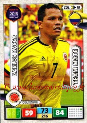 2018 - Panini Road to FIFA World Cup Russia Adrenalyn XL - N° COL18 - Carlos BACCA (Colombie)