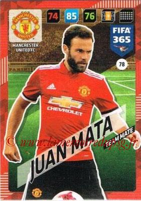 2017-18 - Panini FIFA 365 Cards - N° 078 - JUAN MATA (Manchester United)