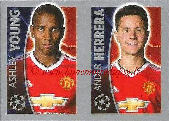 2015-16 - Topps UEFA Champions League Stickers - N° 118 - Ashley YOUNG + Ander HERRERA (Manchester United FC)