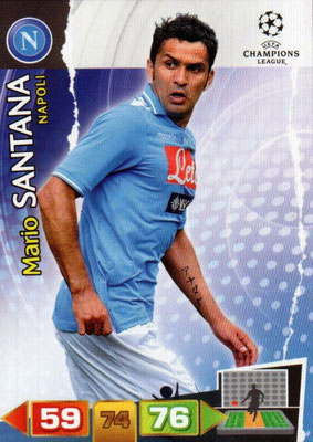 2011-12 - Panini Champions League Cards - N° 180 - Mario SANTANA (SSC Naples)