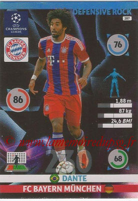 2014-15 - Adrenalyn XL champions League N° 287 - DANTE (FC Bayern Munchen) (Defensive Rock)