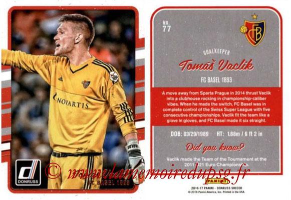 2016 - Panini Donruss Cards - N° 077 - Thomas VACLIK (FC Bâle)