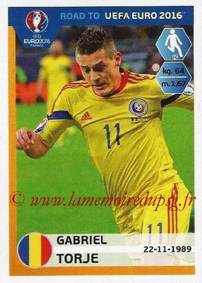 Panini Road to Euro 2016 Stickers - N° 252 - Gabriel TORJE (Roumanie)