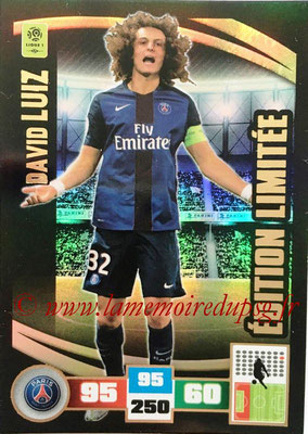 2016-17 - Panini Adrenalyn XL Ligue 1 - N° LE-DL - David LUIZ (Paris Saint-Germain) (Edition Limitée)