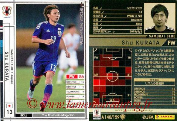 2015-16 - Panini WCCF - N° A140 - Shu KURATA (Japon)