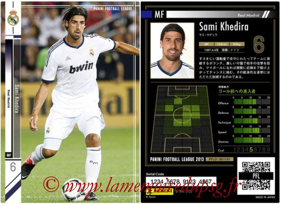Panini Football League 2013 - PFL01 - N° 061 - Sami Khedira ( Real Madrid )