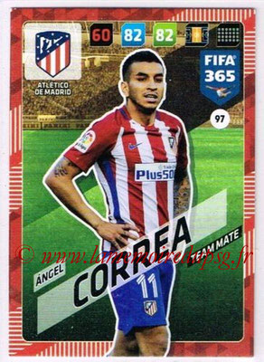 2017-18 - Panini FIFA 365 Cards - N° 097 - Angel CORREA (Atletico Madrid)